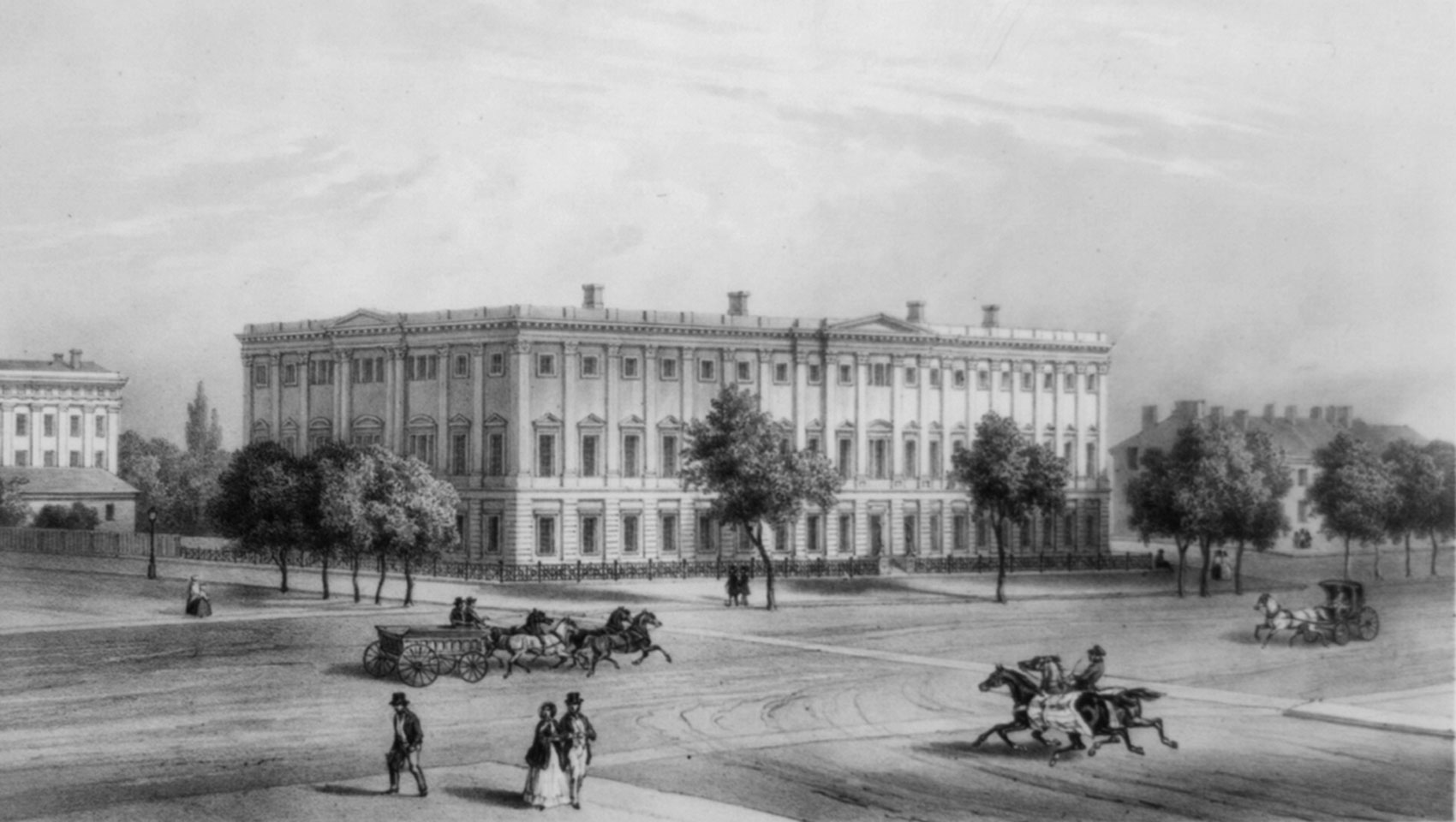 1850 engraving of Washington DC's General Post Office