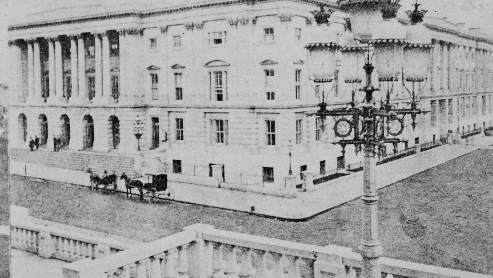 1873 photograph of Washington DC's General Post Office