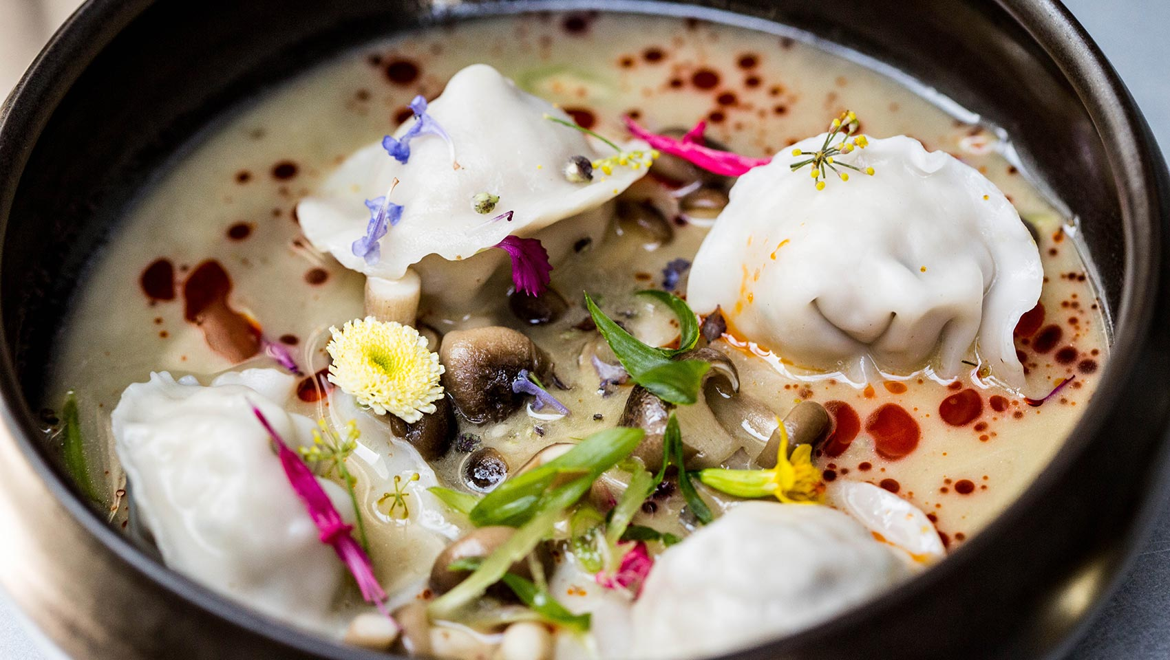 Poached Hen Dumplings