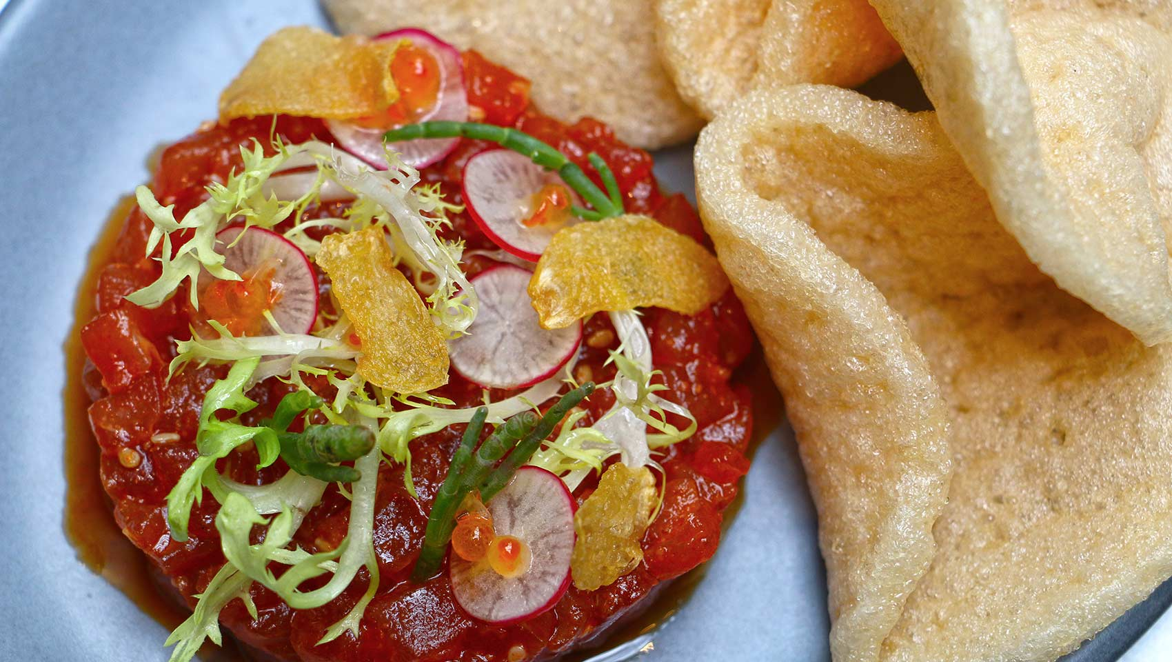 Dirty Habit tuna tartare dish