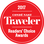 2017 Conde Naste Traveler Reader's Choice Award Badge