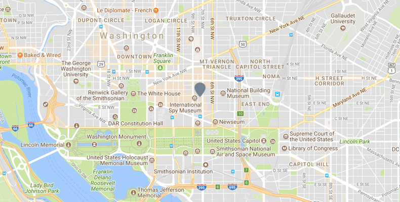 Map of Downtown Washington DC | Kimpton Hotel Monaco DC